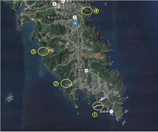 唐桑半島map