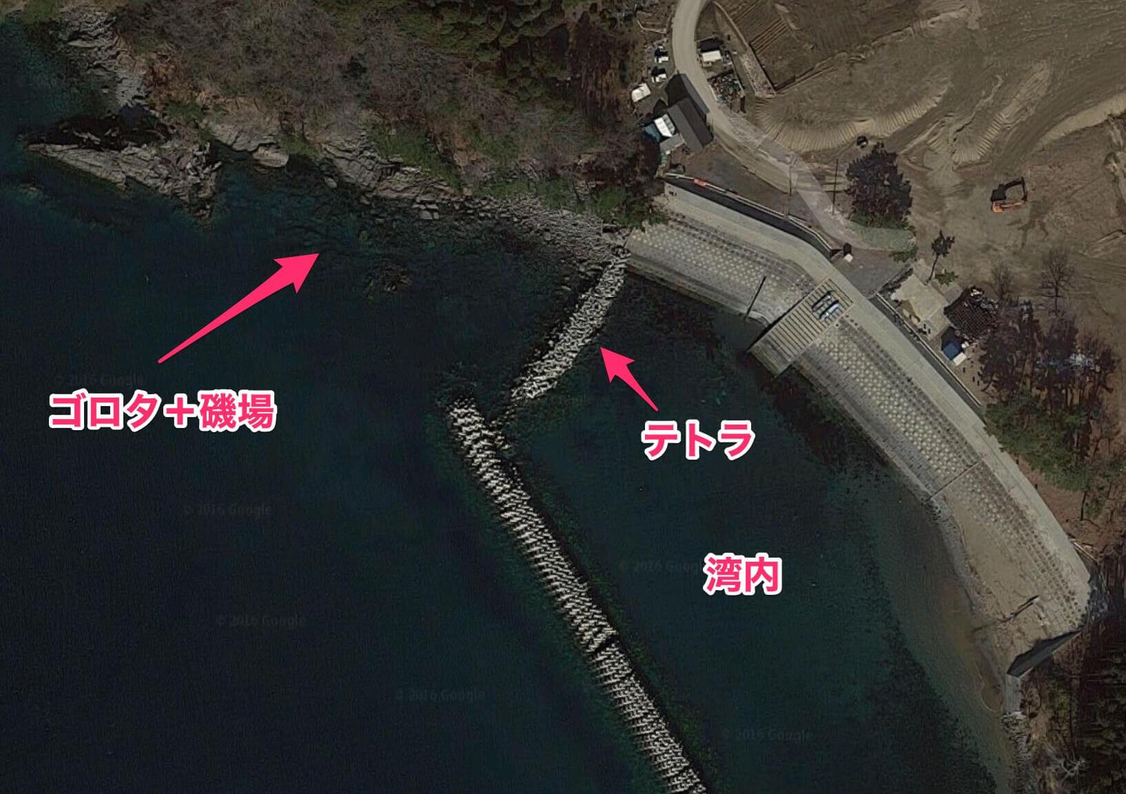 Google_マップ_御城林漁港